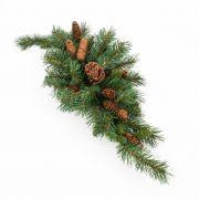 Umělá vánoční dekorace z jedličky ALFRED, 75cm