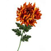 Umělá chryzantéma KESARA, oranžová, 65cm, Ø16cm