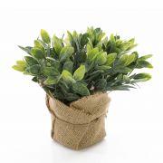 Umělá bylinka šalvej VITUS v jutovém balu, zeleno-bíla, 20cm, Ø22cm
