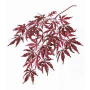 Umělá větvička japonského javoru DIRK, težko hořlavá, červená, 70cm