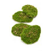 Art deco mechové kousky HEFEI, 4 kusy, zelené, 11x15x5cm
