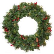 Umělecký vánoční věnec BUCHAREST, zdobený, Ø60cm